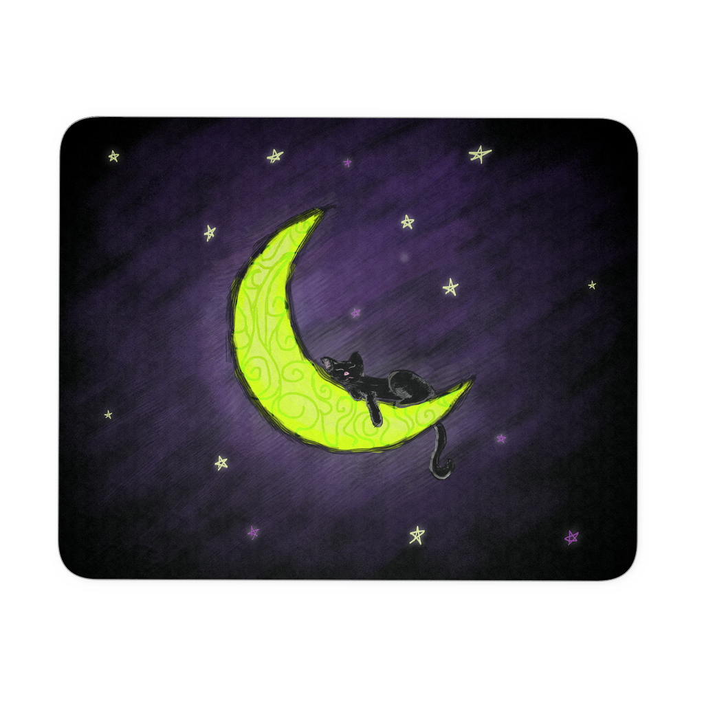 Cat Sleeping on the Moon Mouse Pad - Our Exclusive Design - Love Kitty Cat