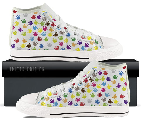 Colorful Cat Paws High Tops - Exclusive Limited Edition