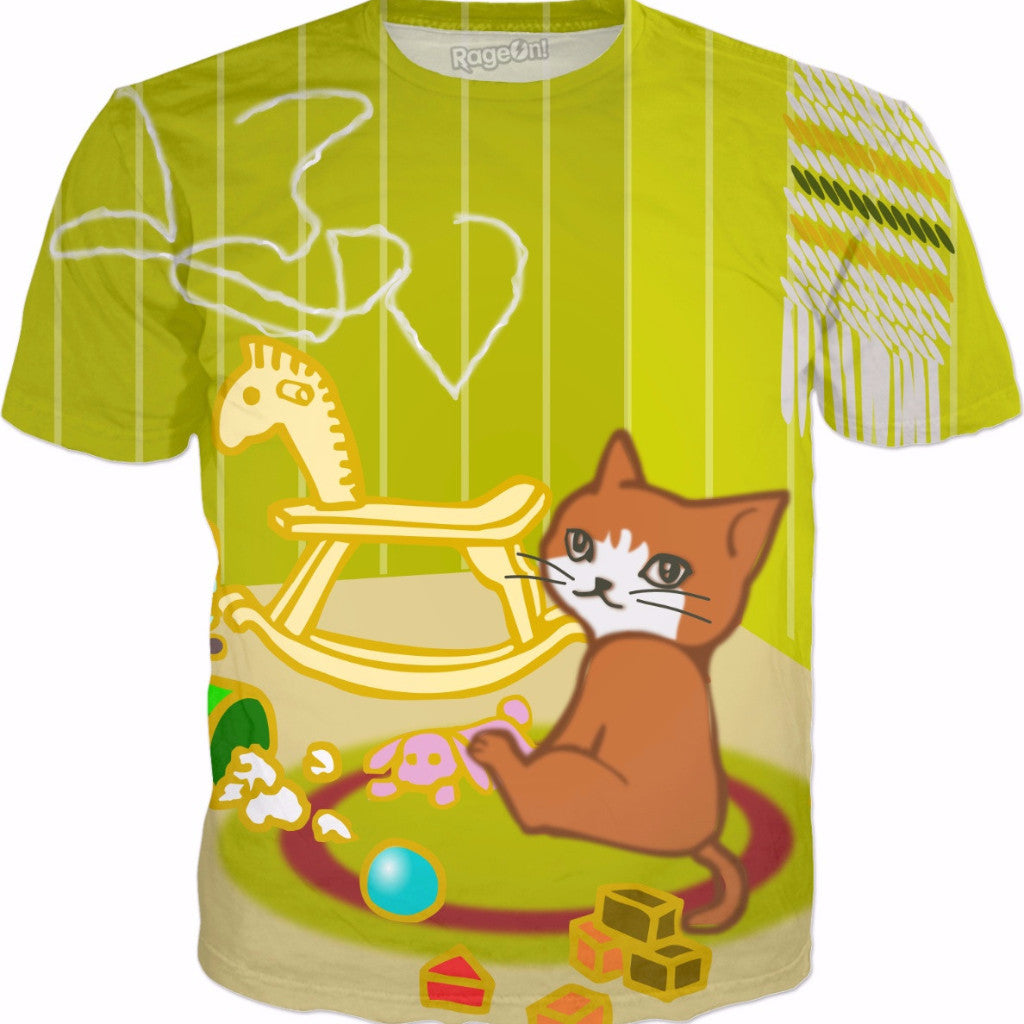 Naughty Kitty Playing With Toys All-Over-Print Shirt