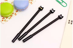 4-PC Set Kawaii Black Cat Gel Pen