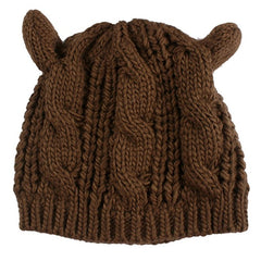 Knitted Cat Ears Beanie