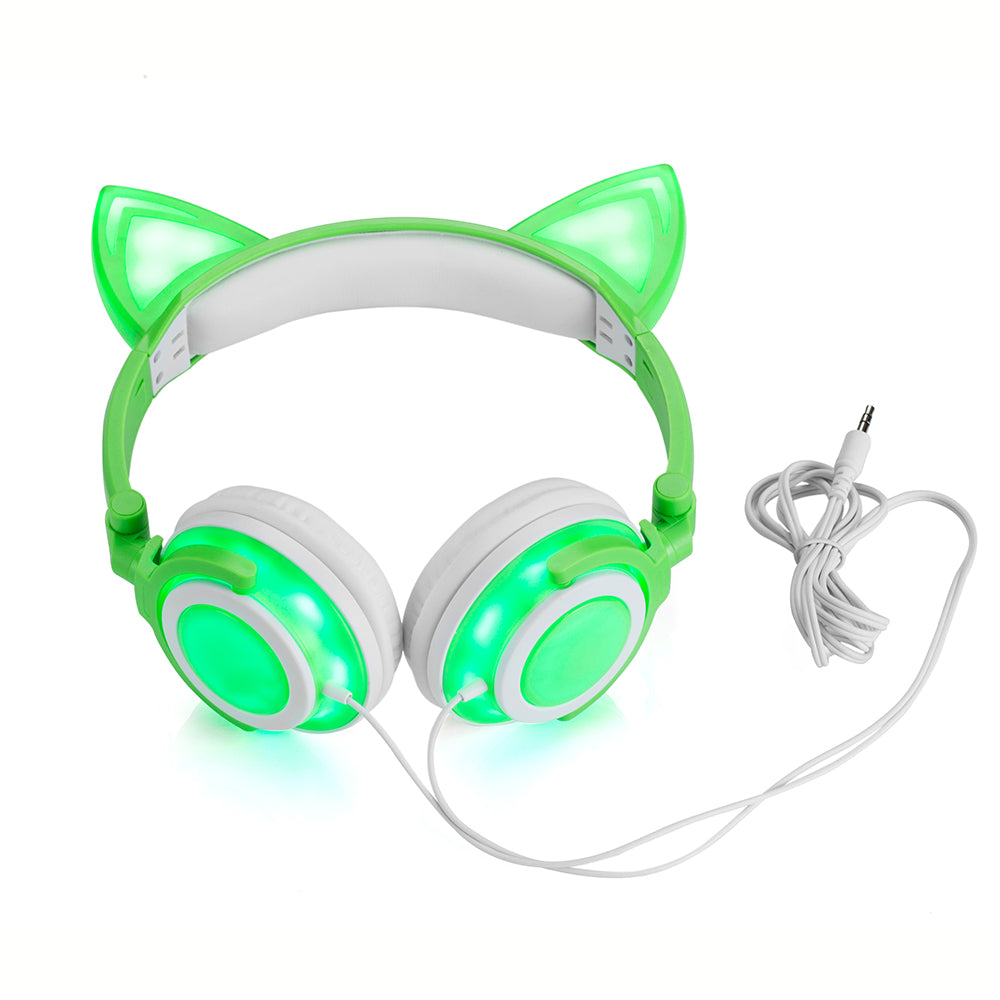 Foldable LED Cat Ear Headphones - Love Kitty Cat