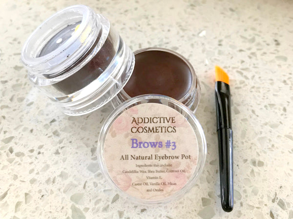 Eyebrow Duo's- Pomade and Powder Stackables- All Natural, Vegan Friendly Eyebrow Fillers- Don't neglect your Brows!