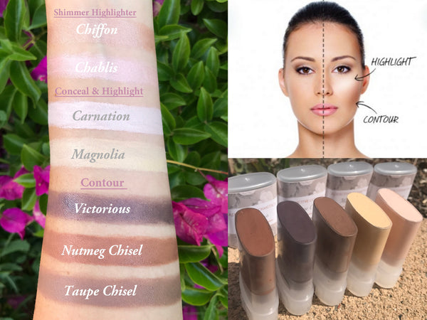 CONTOUR KIT- Use on Eyes, Cheeks and Lips! All Natural and Vegan Friendly.