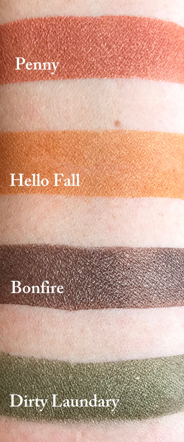 HELLO FALL- All Natural, Vegan Friendly Eyeshadow and Eyeliner Makeup