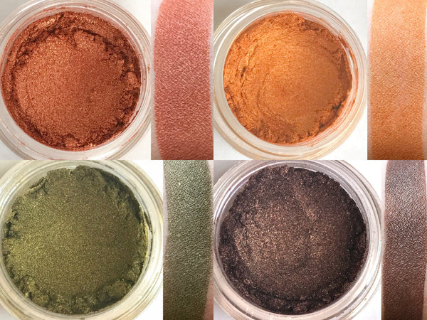 CORNMAZE Makeup Quad- All Natural, Vegan Friendly Eyeshadows. Great gift idea!