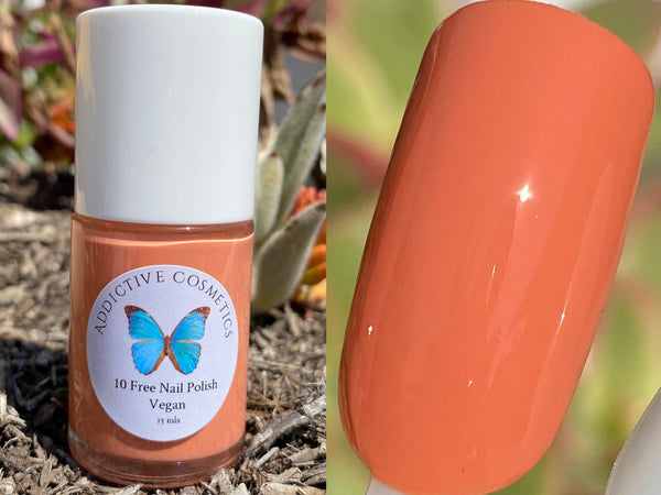 CANTALOUPE CRAVINGS- 10 Free Nail Polish- Vegan Friendly, Cruelty Free