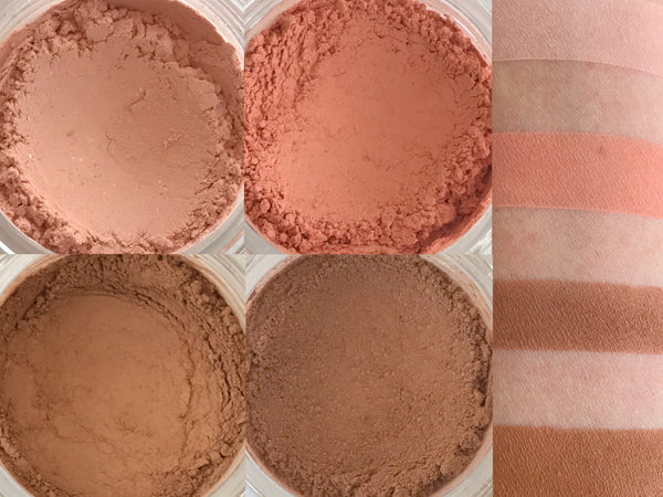 EASY TO FALL FOR Matte Makeup Quad- All Natural, Vegan Friendly Eyeshadows. Great gift idea!