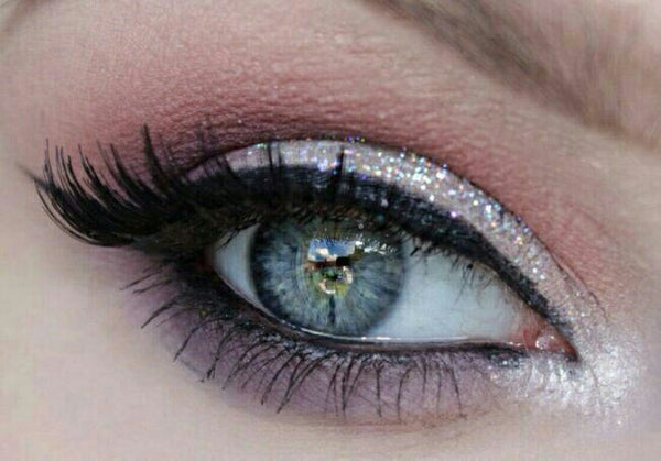 ANGELIC- Get This Look Trio- Natural, Vegan Eyeshadow and Eyeliner Makeup. Includes Cosmetic Glitter in Angelface.