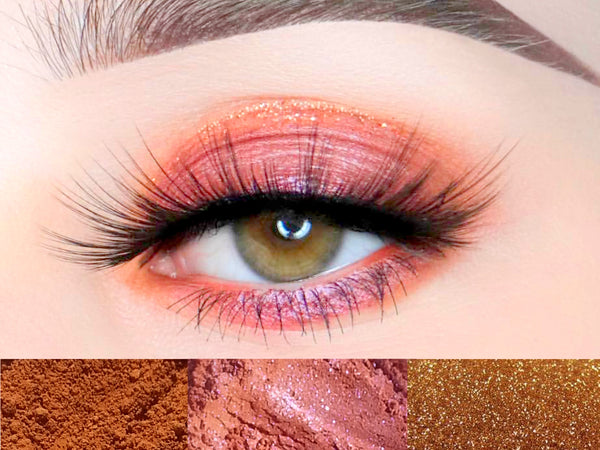 FAITH, HOPE, LOVE Eyeshadow Trio- Get This Look! All Natural, Vegan Eyeshadow and Eyeliner Makeup. Cruelty Free Cosmetics.