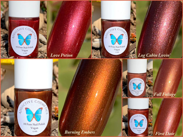 LOG CABIN LOVIN'- 10 Free Nail Polish- Vegan Friendly, Cruelty Free