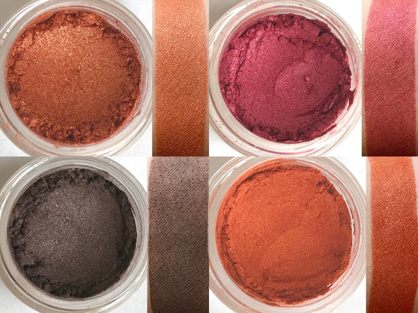FALL FESTIVAL Makeup Quad- All Natural, Vegan Friendly Eyeshadows. Great gift idea!