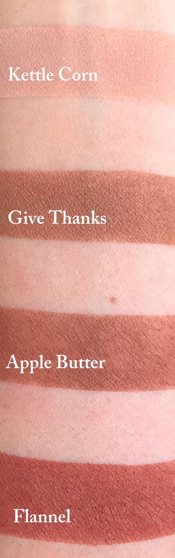 GIVE THANKS- All Natural, Vegan Friendly Eyeshadow and Eyeliner Makeup