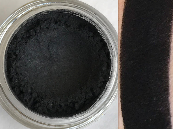 FLAT BLACK All Natural, Vegan Eyeshadow or Eyeliner Pigment