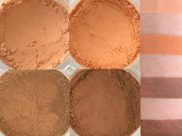 HAPPY FALL Y'ALL Matte Makeup Quad- All Natural, Vegan Friendly Eyeshadows. Great gift idea!