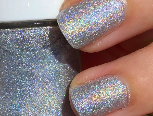 HOLOGRAM- 10 Free Holographic Glitter Nail Polish- Vegan Friendly, Cruelty Free