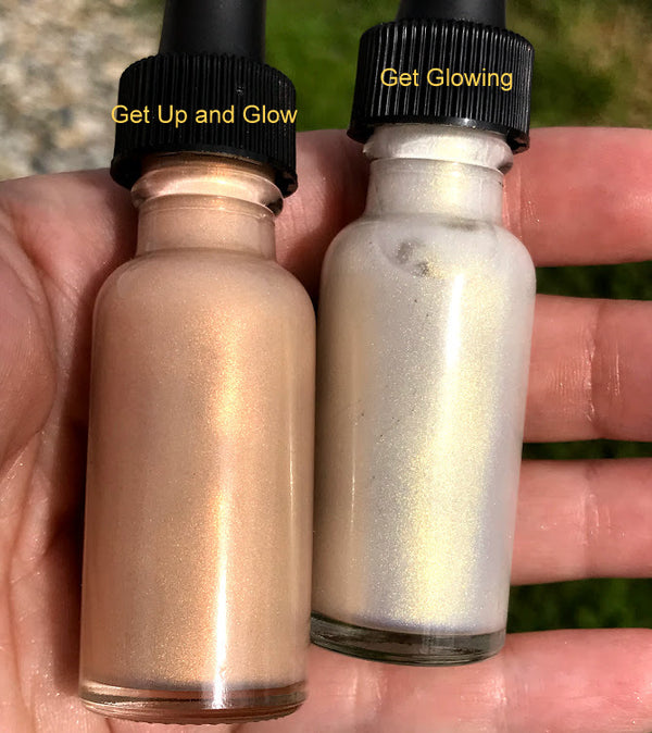 NEW! GET UP AND GLOW All Natural Illuminating Drops- Primer, Skin Illuminator, Highlighter
