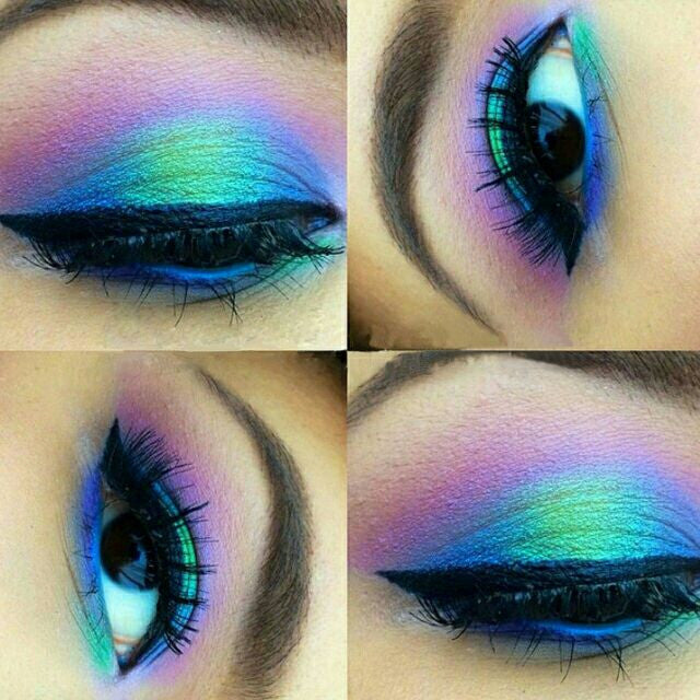 COLOR RUN- Mineral Eyeshadow and Eyeliner Makeup Look- All Natural, Ve - Addictive Cosmetics