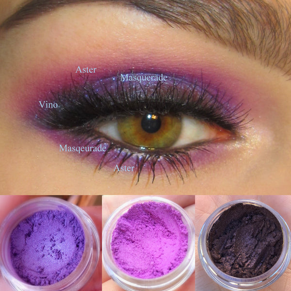 MYSTIQUE- GET THIS LOOK Trio- Natural, Vegan Eyeshadow and Eyeliner Makeup