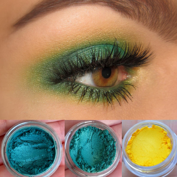 SPIRITED- GET THIS LOOK Trio- Natural, Vegan Eyeshadow and Eyeliner Makeup