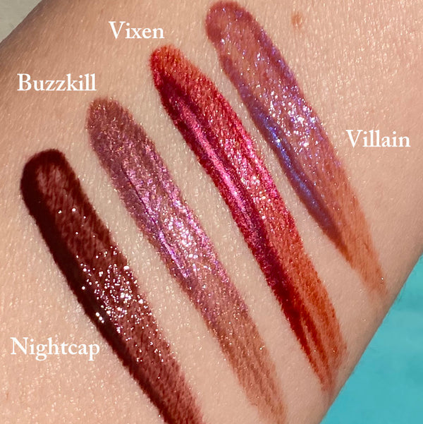 VIXEN Liquid Lip Glaze- Vegan Friendly, Cruelty Free