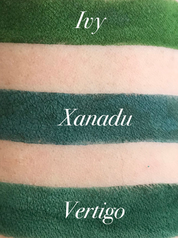 XANADU- Matte Green Eyeshadow and Eyeliner Makeup