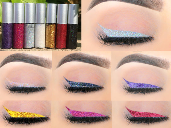 TEXT ME Glitter Liquid Eyeliner- All Natural. Vegan Friendly.