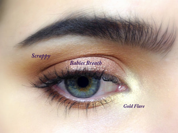 GOLD FLARE- All Natural, Vegan Friendly Eyeshadow and Eyeliner Makeup