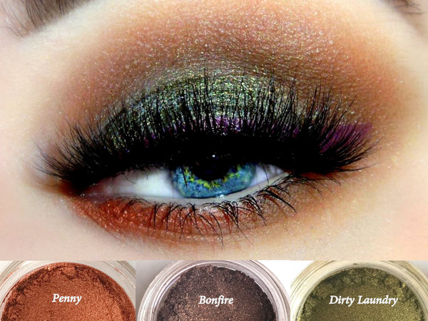 GYPSY Trio- Get This Look! All Natural, Vegan Eyeshadow and Eyeliner Makeup. Cruelty Free Cosmetics.
