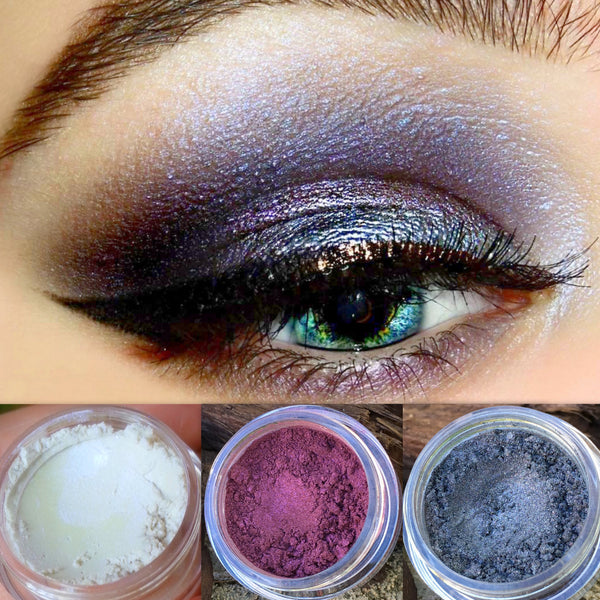 ALL THE RICHES- GET THIS LOOK! All Natural Eyeshadow and Eyeliner Makeup. Vegan