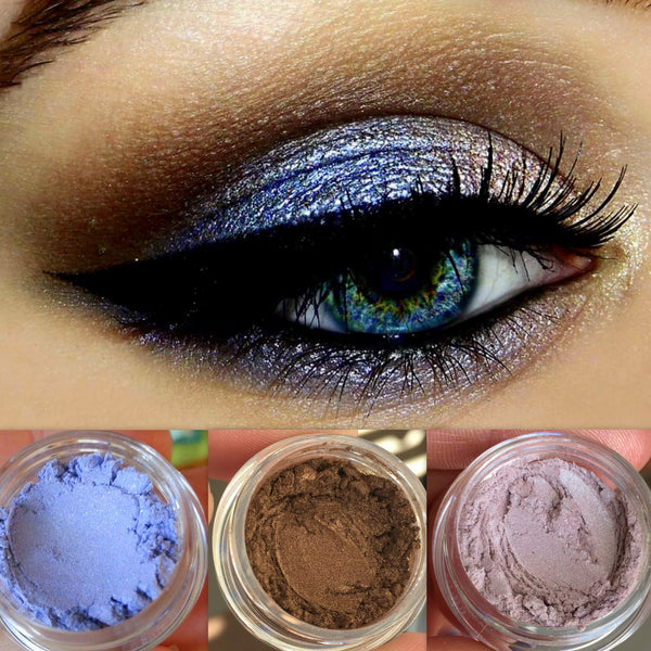 DAYDREAMER Get This Look Trio- All Natural, Vegan Eyeshadow and Eyeliner Makeup. Cruelty Free.