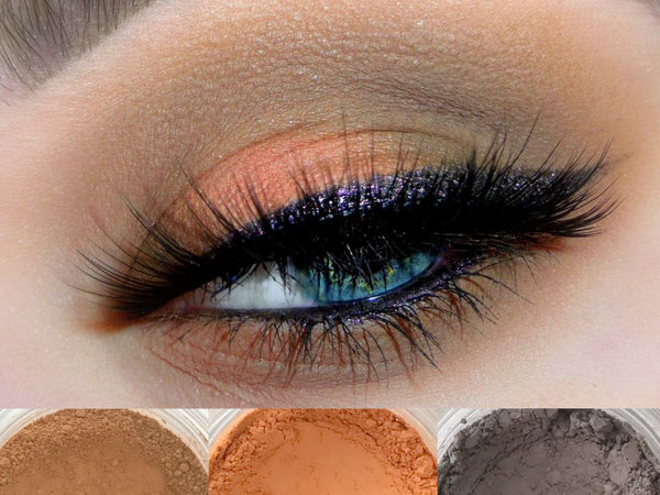 EQUINOX Trio- Get This Look! All Natural, Vegan Eyeshadow and Eyeliner Makeup. Cruelty Free Cosmetics.