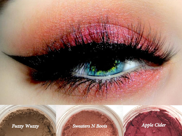 IGNITE Trio- Get This Look! All Natural, Vegan Eyeshadow and Eyeliner Makeup. Cruelty Free Cosmetics.