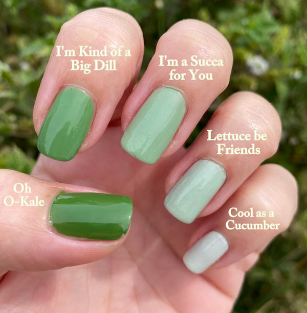 OH O-KALE- 10 Free Nail Polish- Vegan Friendly, Cruelty Free