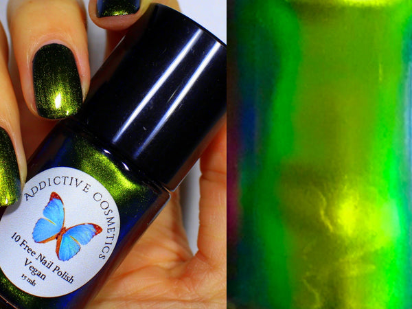 Multi Chrome Metallic Nail Polish- NORTHERN LIGHTS- 10 Free Nail Polish- Vegan Friendly, Cruelty Free