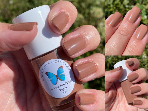NUTTIN' TO SEE HERE- 10 Free Nail Polish- Vegan Friendly, Cruelty Free