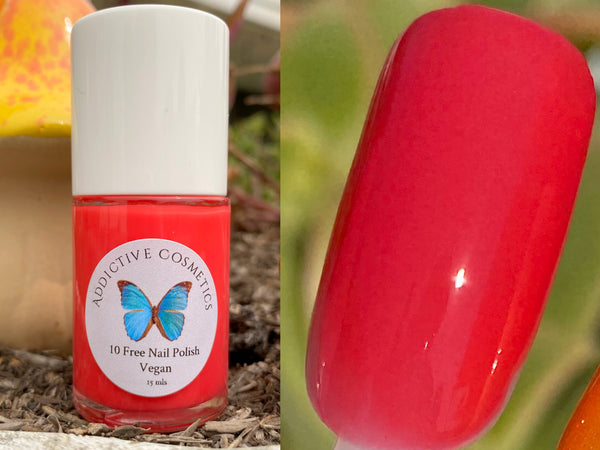 ONE IN A WATERMELON- 10 Free Nail Polish- Vegan Friendly, Cruelty Free