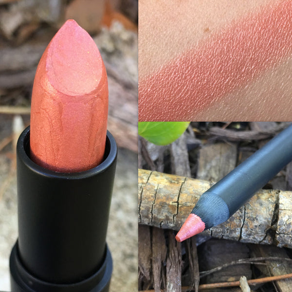 RAZZMATAZZ- Lipstick and Liner or Sample- Vegan friendly.