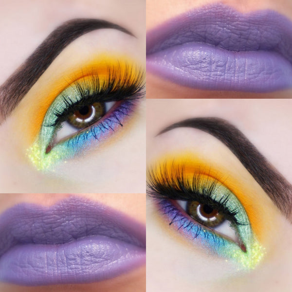 MARDIS GRAS- GET THIS LOOK! All Natural Eyeshadow and Eyeliner Makeup. Vegan