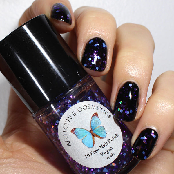 AFTER PARTY- 10 Free Glitter Nail Polish- Vegan Friendly, Cruelty Free