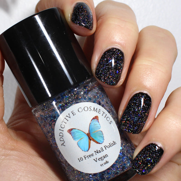CALM IN CHAOS- 10 Free Glitter Nail Polish- Vegan Friendly, Cruelty Free