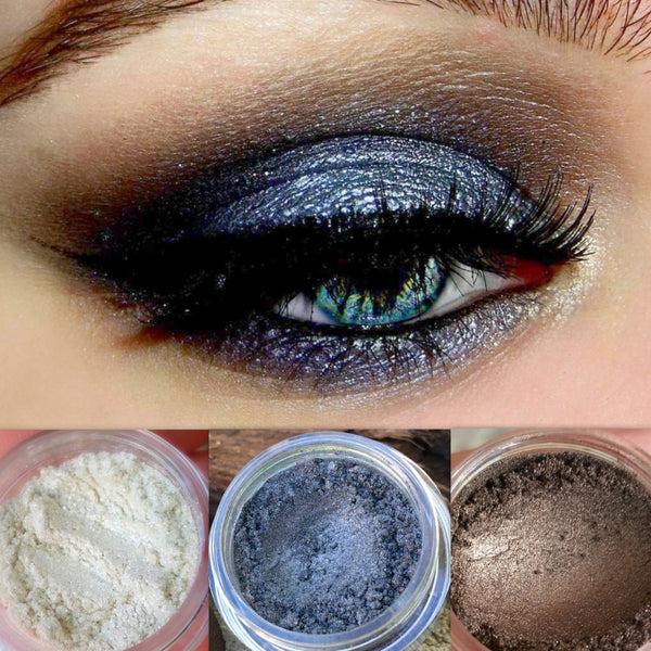 HEAVEN SENT Get This Look Trio- All Natural, Vegan Eyeshadow and Eyeliner Makeup. Cruelty Free Cosmetics.