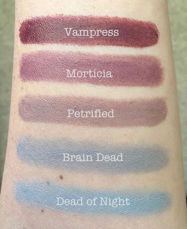 DEAD OF NIGHT- Part of the Dead Sexy 5 Collection- Lipstick and Liners. Vegan friendly.