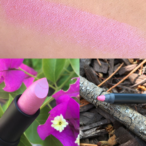 CHERRY BLOSSOM All Natural Lipstick and Liner. Vegan friendly. Cruelty Free.