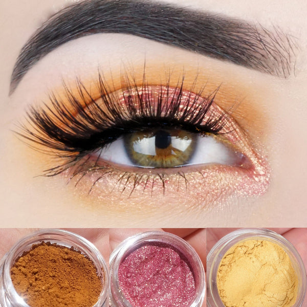 EARTH ANGEL Mineral Eyeshadow Trio- Get this look! All Natural, Vegan Eyeshadow and Eyeliner Makeup