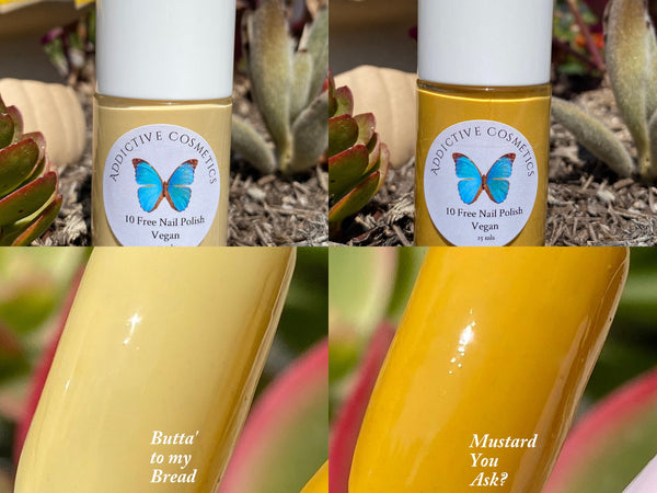 MUSTARD YOU ASK- 10 Toxin Free Nail Polish- Vegan Friendly, Cruelty Free
