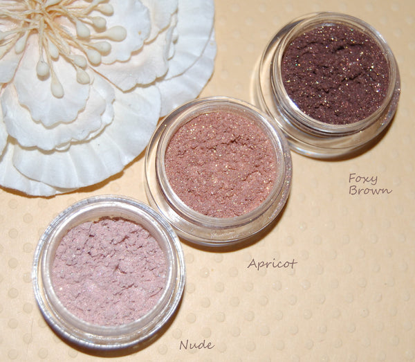 APRICOT- Mineral Eyeshadow and Eyeliner Makeup