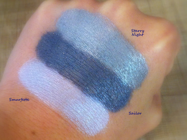 SMURFETTE- All Natural, Mineral Eyeshadow and Eyeliner Makeup - Vegan Friendly