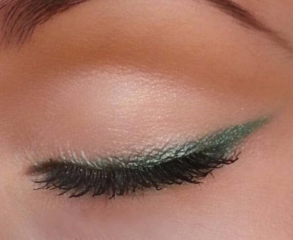 Emerald Eyeliner and Eyeshadow- All Natural, Vegan Makeup