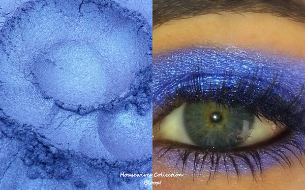 Housewives BLOOP- UD Blue Bus Dupe- All Natural, Vegan Eyeshadow and Eyeliner Makeup